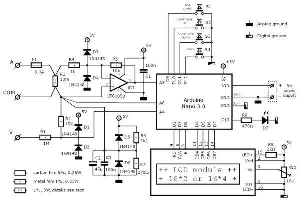 how to build digital voltmeter circuit diagram