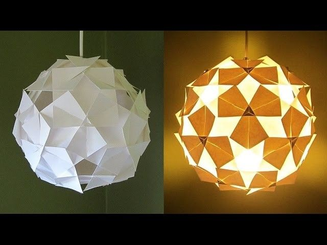 Diy Lampshade Clover Pattern Learn How To Make A Hanging Lamp From Template Ezycraft Origami Lamp Paper Lampshade Diy Lamp Shade