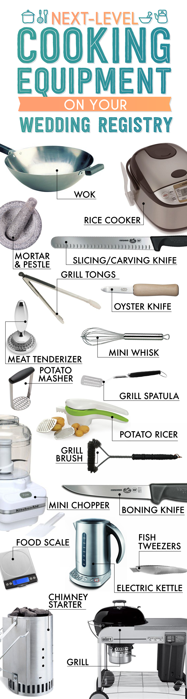 Kitchen Tools List the essential wedding registry list for your kitchen | kitchens