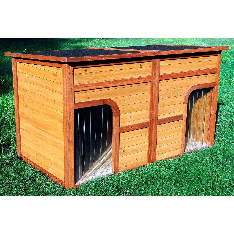 Zoovilla Flat Top Duplex Dog House Sam S Club Dog House Heater Dog House Diy Dog House