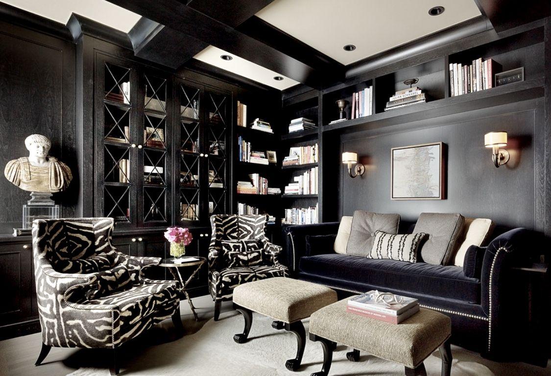 Art Deco Style Black Living Room Decor Black Living Room Pinterest Home Decor Ideas Home Office Design