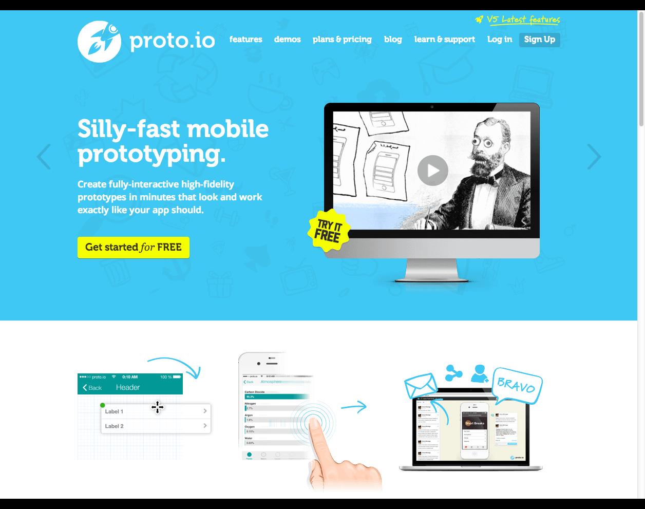 Proto.io - Silly-fast mobile prototyping.