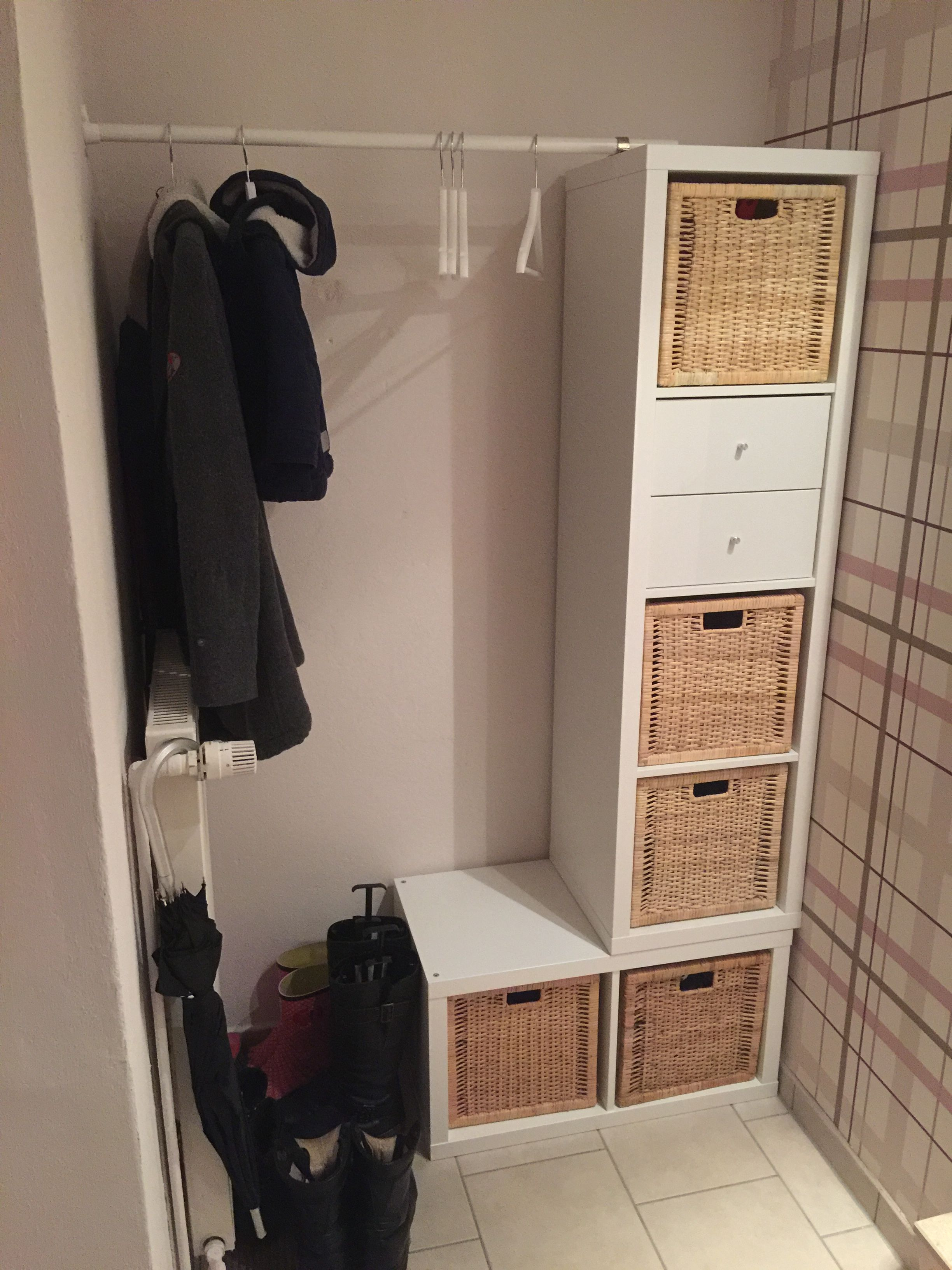 DIY Garderobe Ikea Kallax | Gang | Pinterest | Ikea kallax, Ikea ...