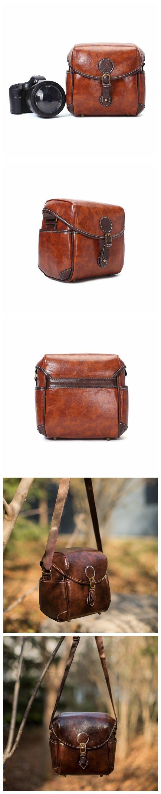 Flash Sale PU Leather DSLR Camera Purse, Vintage SLR Camera Case PU02 #camerapurse