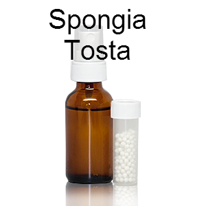 Homeopathic single remedy Spongia Tosta