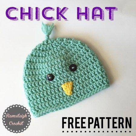 Chick Hat {FREE PATTERN} | Things I love | Pinterest