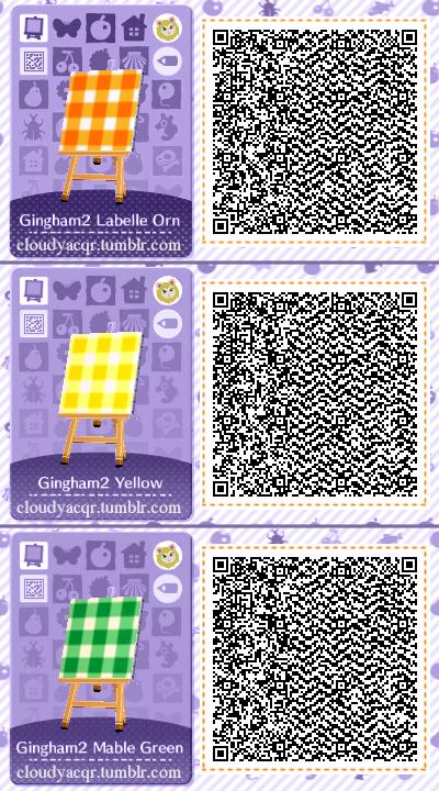 Animal Crossing New Leaf Wallpaper Qr Animal Crossing Qr Codes By Cloudy Plaid Designs Set 2