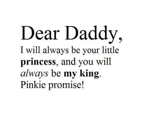 Pinkie promise! | loss | Baby girl quotes, Daddy quotes ...