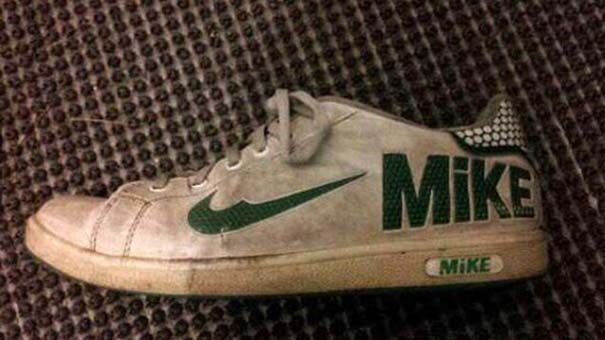 Nikes for Mike. Lol. Knock off brand names