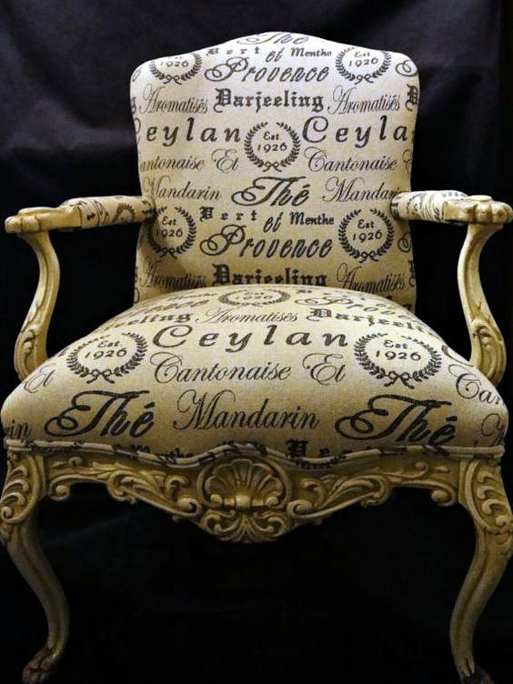 Calligraphy Chair Fabric Dining Chairs French Chairs Chair