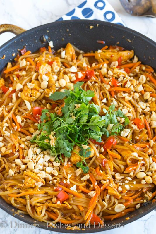 Spicy thai noodles with chicken a super quick and easy dinner that spicy thai noodles with chicken a super quick and easy dinner that is on the forumfinder Gallery