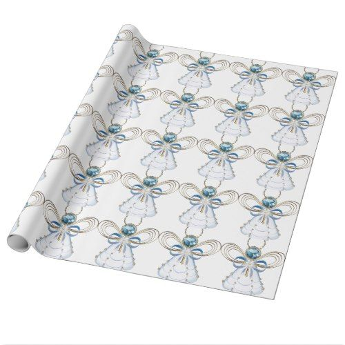 holiday christmas angel of faith wrapping paper