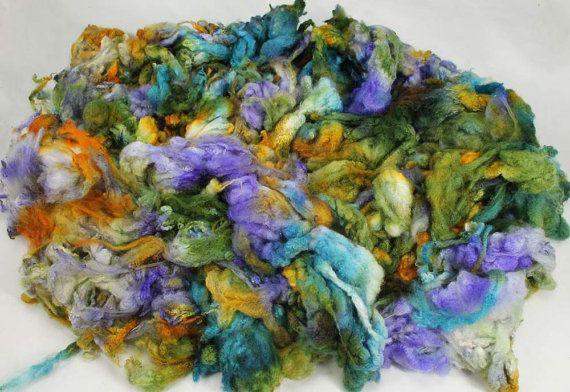 Maco Merino fleece very soft hand painted fiber by WoolShepherdess, €16.25