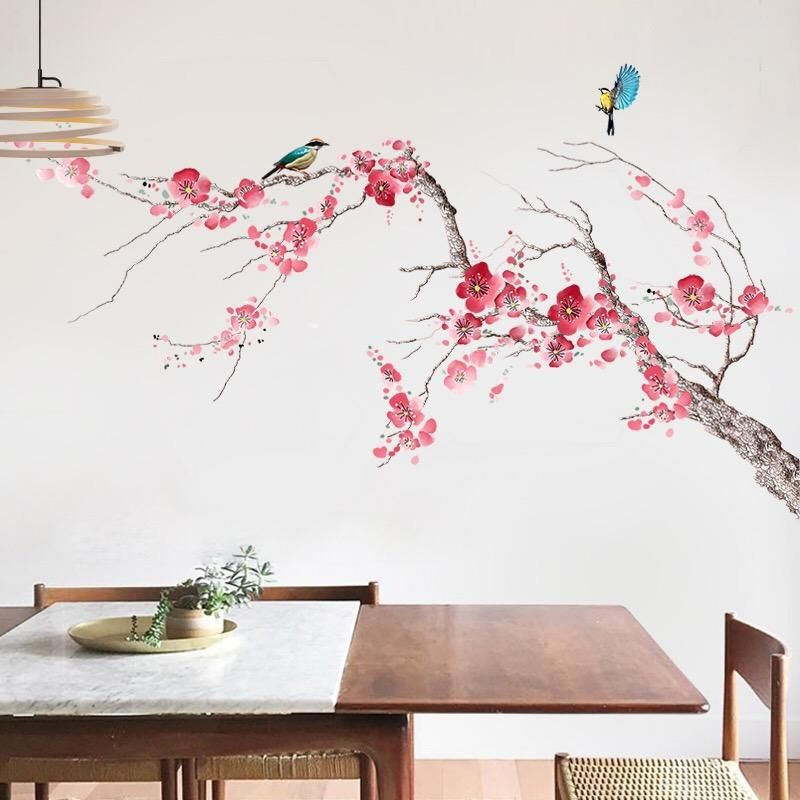Chinoiserie Removable Wall Decals Wall Decor Removable Wall