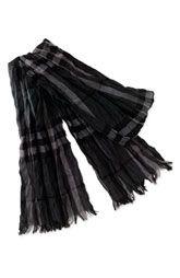 Burberry arrugado Merino lana y cachemira bufanda