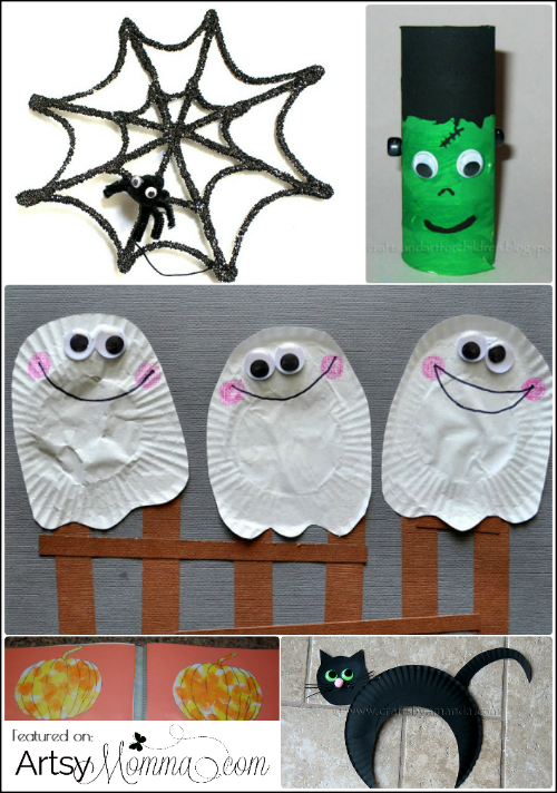 Halloween Ideas For Kids Scary.25 Not So Scary Halloween Crafts For Kids Artsy Momma