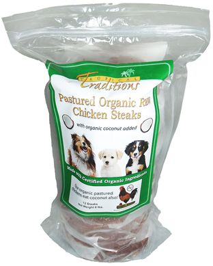 Pastured Organic Raw Chicken Steaks For Dogs Dog Food Recipes