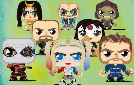 8 Suicide Squad Paper Toys Free Templates Download…