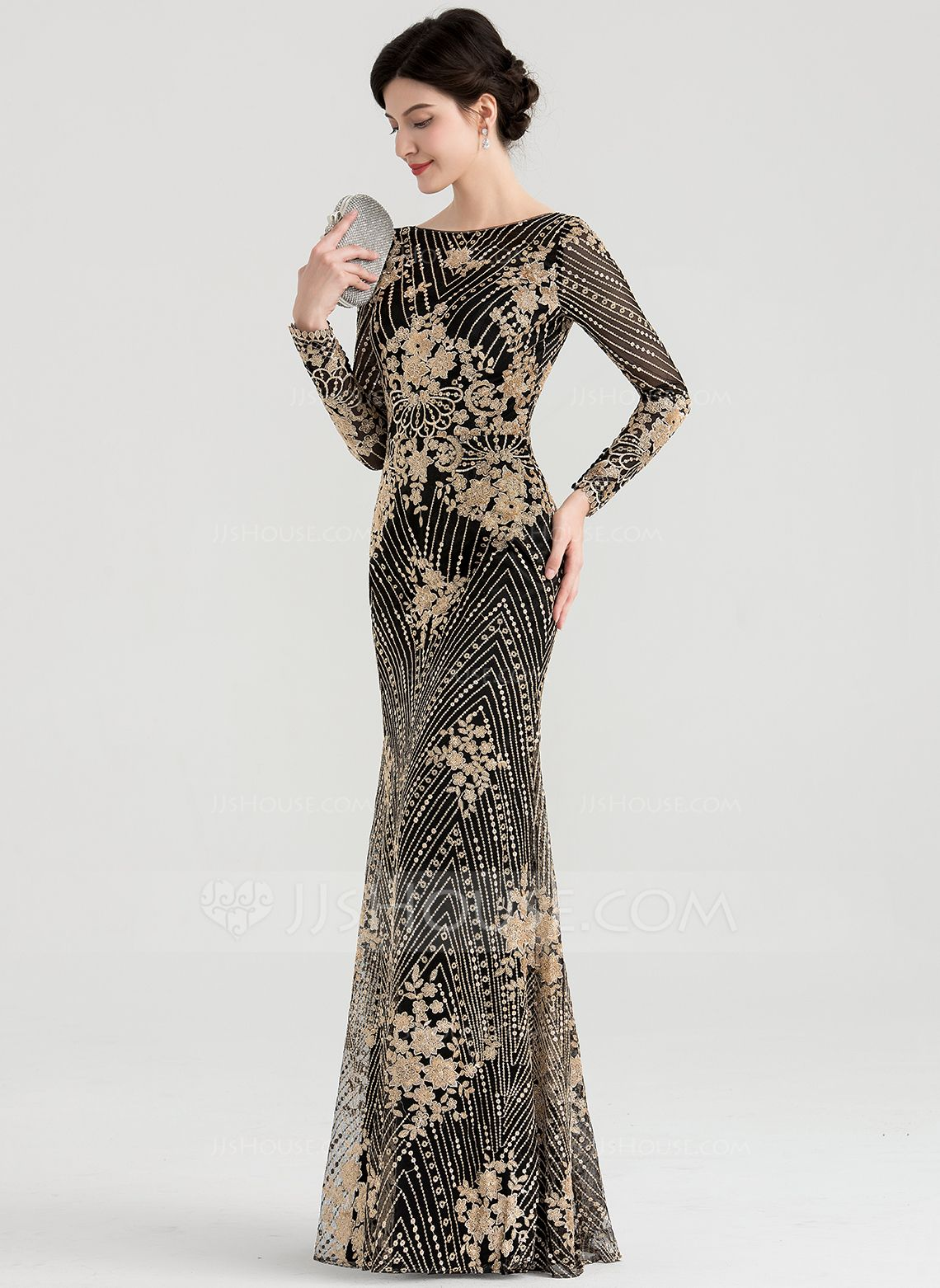Round Neck Evening Dress Accessories
