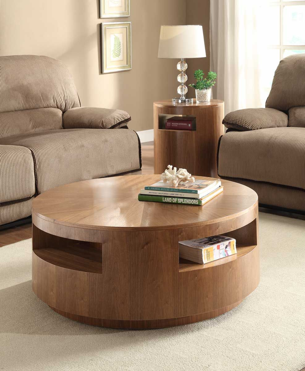 863 Round Coffee Table W Integrated Storage Http Www Homelement Com Occasionals Occasionals Set Aquinnan Round Coffee Table Set Natural Toronto Arredamento [ 1200 x 987 Pixel ]