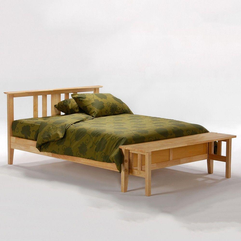 Thyme Wood Platform Bed in Natural | Master Bedroom/Bath | Pinterest