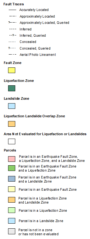 Earthquake Zones Of Required Investigation Commercial Appraiser