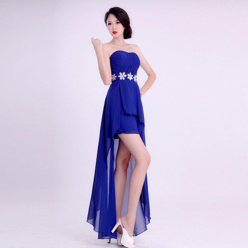 Find more information about high low royal blue bridesmaid for Royal blue short wedding dresses