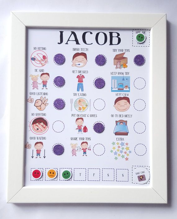 kids magnetic reward chart perfect for toddlers or children with autism or adhd love it. Black Bedroom Furniture Sets. Home Design Ideas
