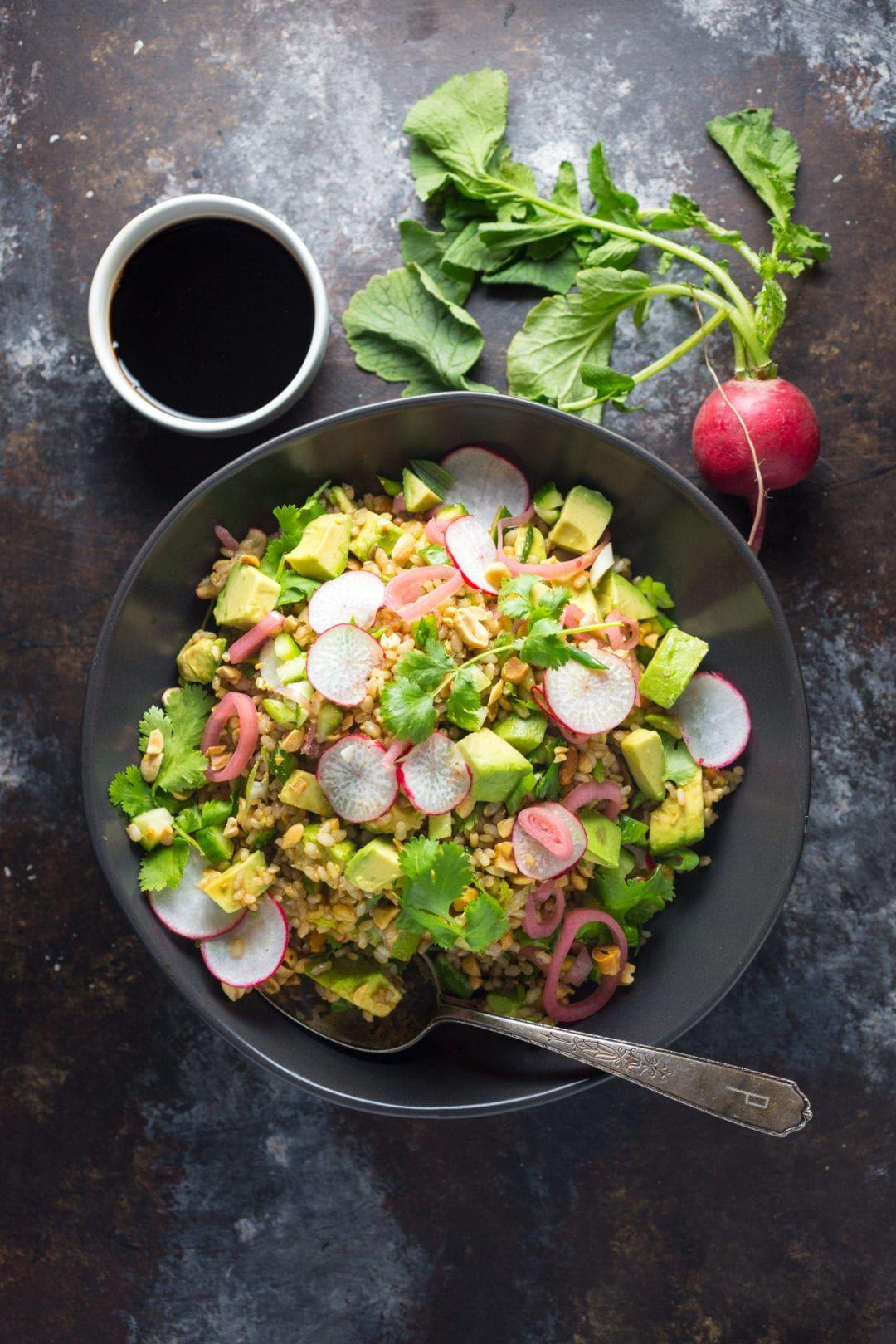 Teriyaki Brown Rice Salad   Recipe   Brown rice salad ...