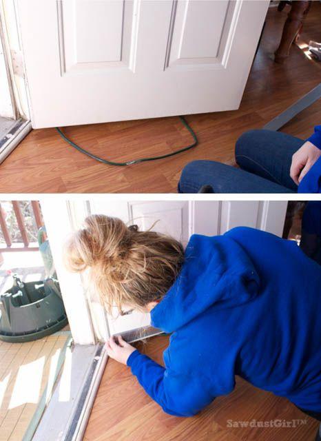 How to install a Door Sweep  Winterize You Home  Sawdust Girl® is part of Door sweep - Installing a door sweep is an easy fix to preventing door draft, one of the biggestculprits when it comes to loosing heatin your home