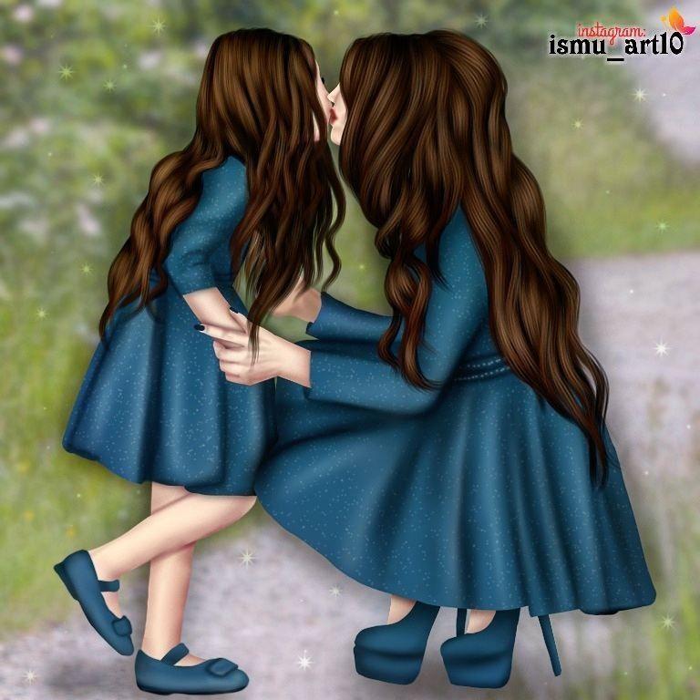 Me And My Aunt Diseno Madre E Hija Dibujo Madre E Hija Madre Hija