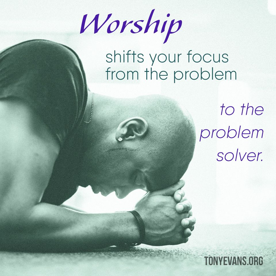 How to focus on god in worship