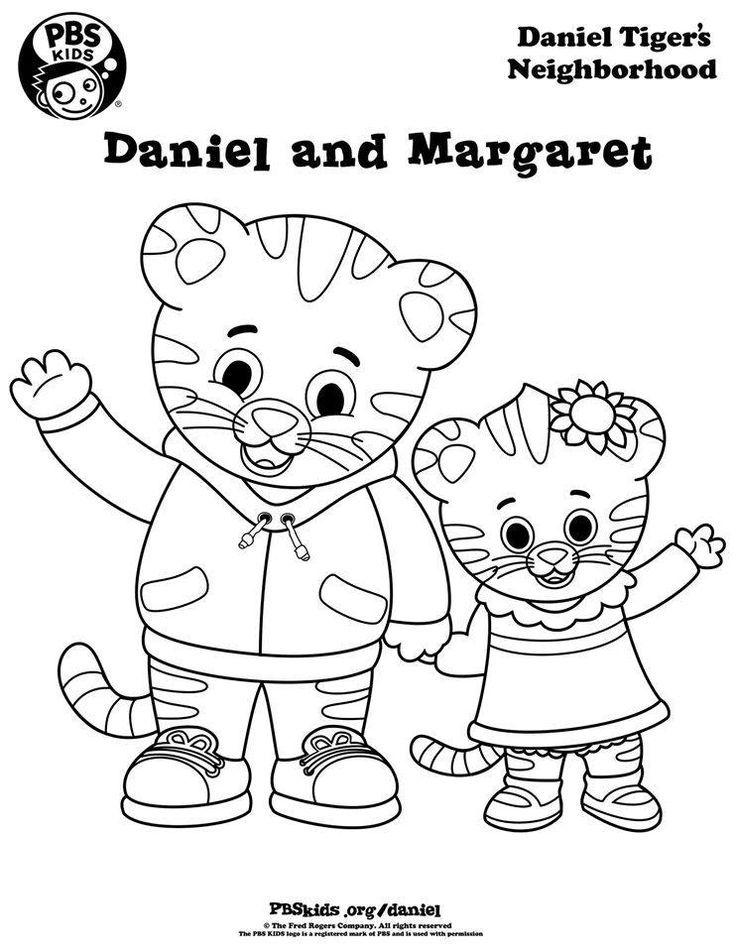 Daniel and Baby Margaret Daniel Tiger Pinterest Daniel tiger - new daniel tiger coloring pages to print