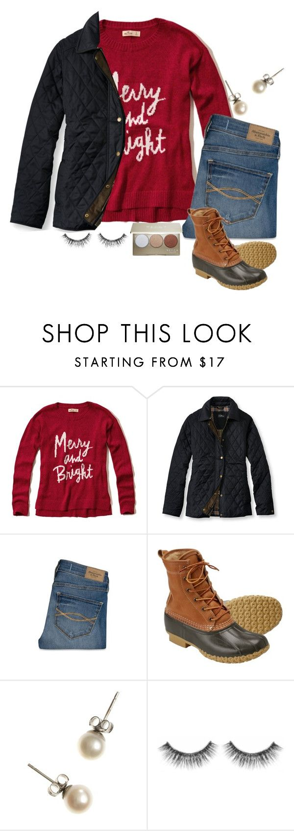"""""""Day Five #twelvedaysofchristmas2k15"""" by a-little-prep-in-your-step ❤ liked on Polyvore featuring Hollister Co., L.L.Bean, Abercrombie & Fitch, J.Crew, Sephora Collection, Becca and twelvedaysofchristmas2k15"""