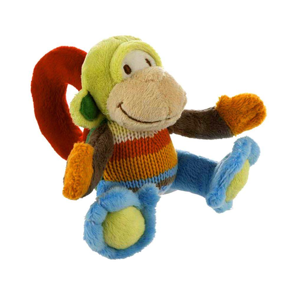 Mo the Monkey Plush Rattle #toy #baby #rattle
