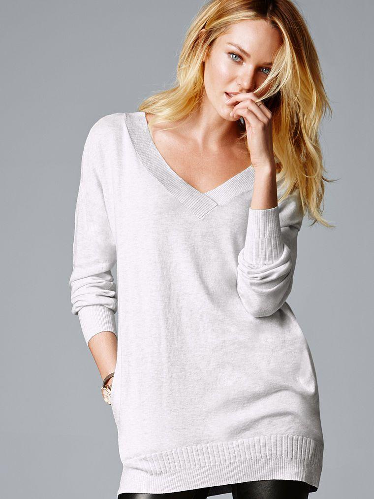 Double V-neck Tunic - A Kiss of Cashmere - Victoria's Secret ...