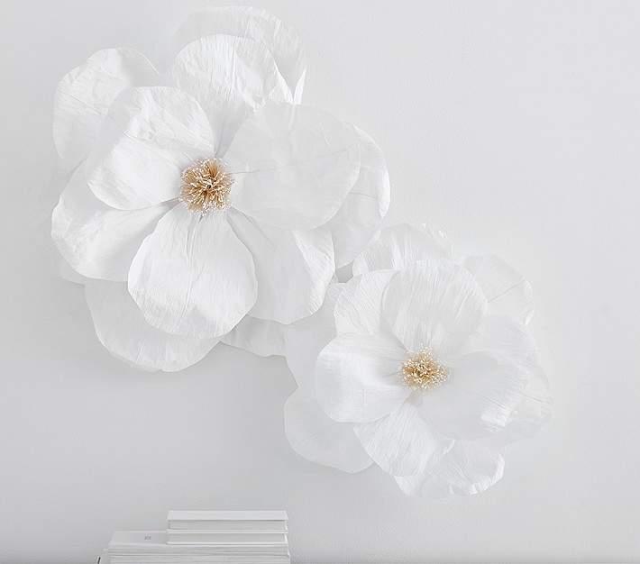Jumbo Crepe Pink Paper Flowers Set Ad Wallart