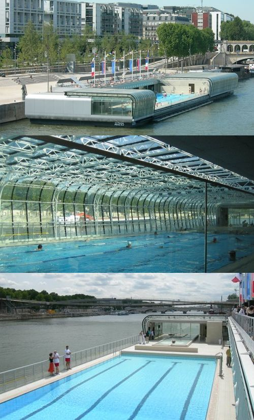 The josephine baker swimming pool is a floating swimming for Pool design france