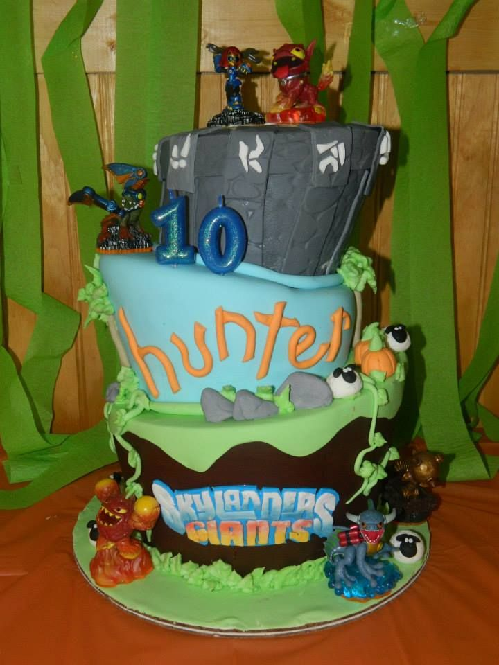 Awesome Skylanders 10Th Birthday Cake With Images Skylanders Birthday Funny Birthday Cards Online Inifodamsfinfo