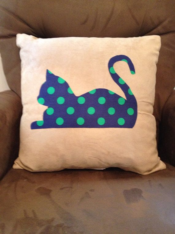 Cat+Pillow+Navy+Blue+Nursery+Boy+Nursery+Cat+by+GraceAlex22,+$35.00