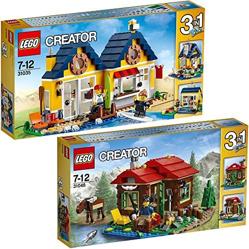 Lego Creator 3 In 1 2er Set 31035 31048 Strandhutte Hutte Am See Farbige Steine De Lego Creator Lego Store Lego