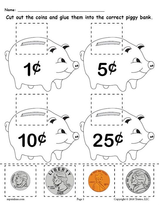 FREE Printable Money Matching Worksheet With Coins | Worksheets ...