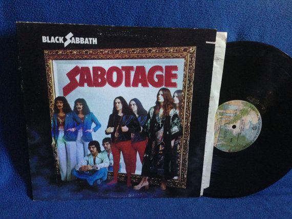 Rare Vintage Black Sabbath Sabotage Vinyl Lp By Sweetleafvinyl Vinyl Sales Black Sabbath Vintage Black