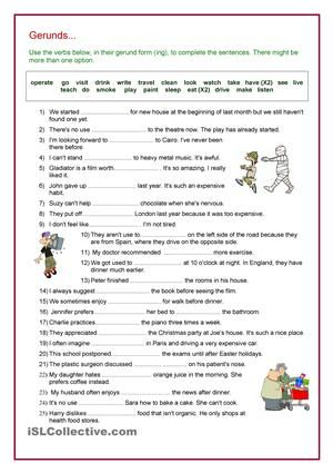 Review Of Verbs That Go With Gerunds Hope Its Useful Esl
