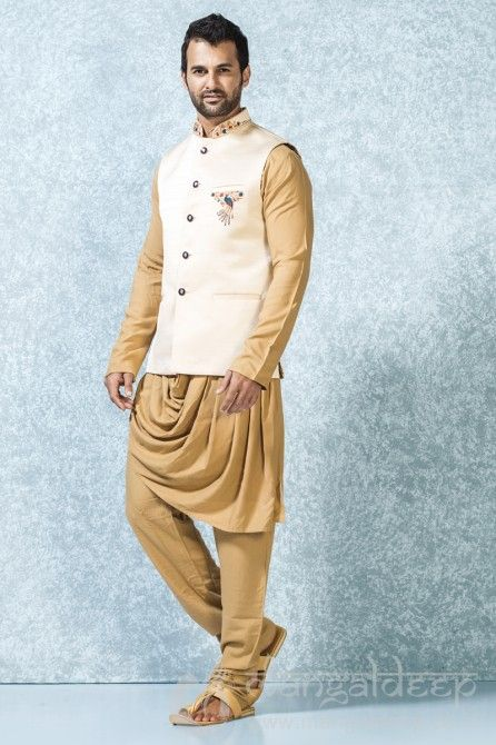 Mens Jodhpuri Blazer In Off White Colour Fashion Pinterest