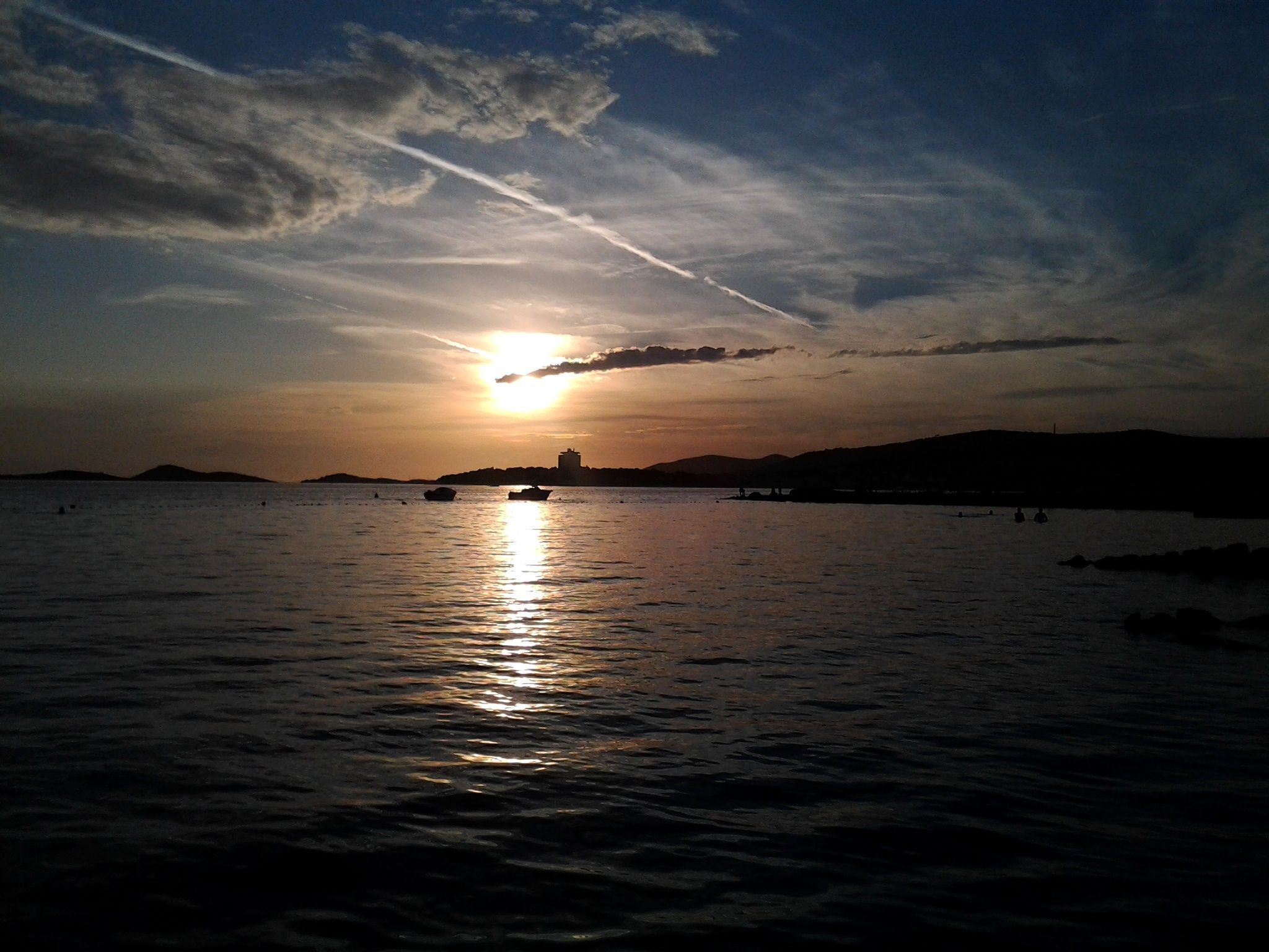 Vodice sunset Croatia, Celestial, Outdoor