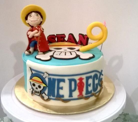 One Piece Luffy Cake Marlina S Cakes Pinterest Cake Cupcakes