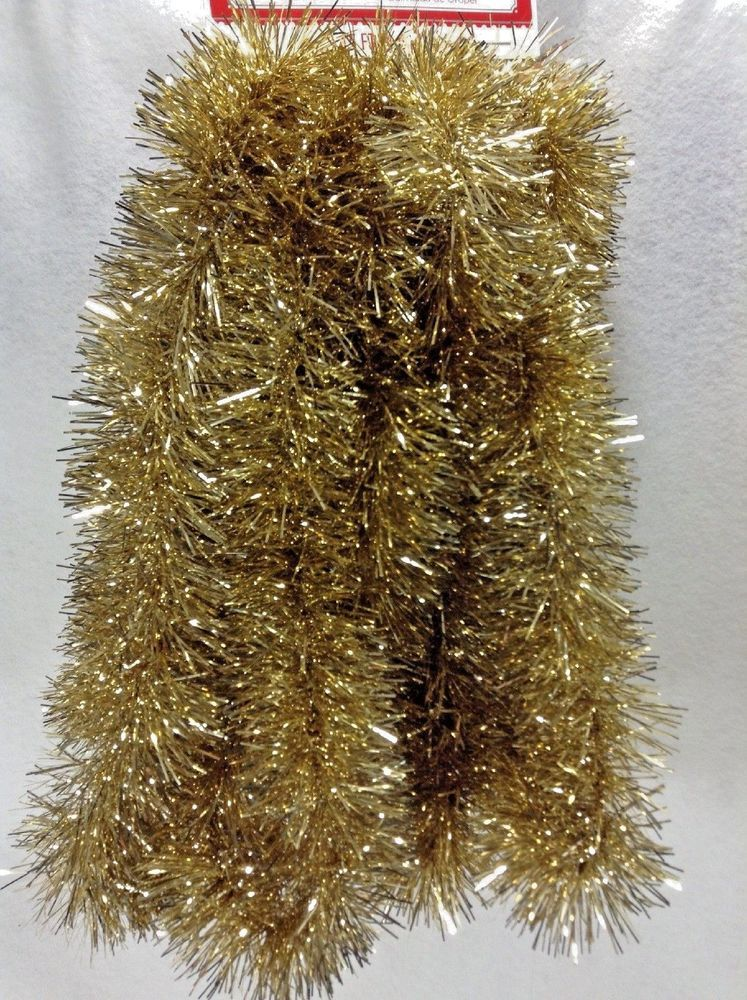 Gold Tinsel Garland 15 Ft Foot Christmas 2 In Thick Valentines Party Decoration V Valentines Party Decor Christmas Decorations Garland Party Decoration Items
