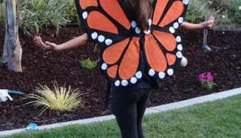 FELT + TWISTED HANGER-How to Make Monarch Butterfly Wings - Revisited