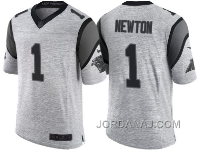 7ee9e6981 Nike Carolina Panthers  1 Cam Newton 2016 Gridiron Gray II Men  039 ...